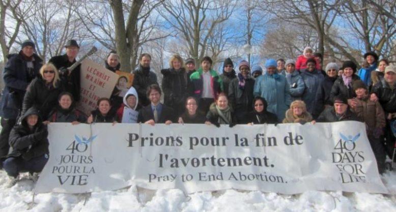 «Betet für das Ende der Abtreibungen» heisst es vom 26. Februar bis zum 5. April 2020 nicht nur im französischsprachigen Montreal (Kanada) wie hier auf dem Foto, sondern erstmals auch in Genf.
