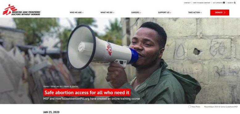 «Zugang zu sicherer Abtreibung für alle, die ihn benötigen»: So übertitelt, wies MSF am 23. Januar 2020 lautstark auf das neue Angebot hin.