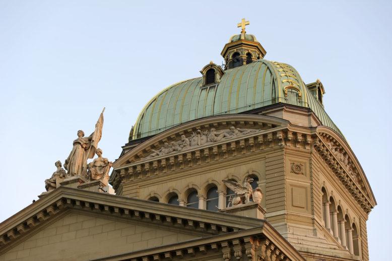 Kuppel Bundeshaus Bern.