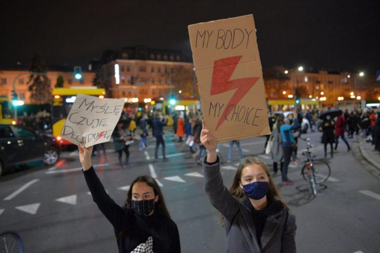 Kundgebung Warschau.